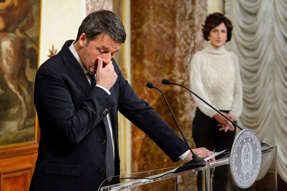 Matteo Renzi annuncia le sue dimissioni dopo il referendum